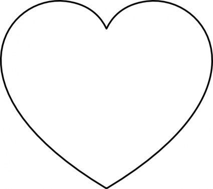 Heart Border Black And White
