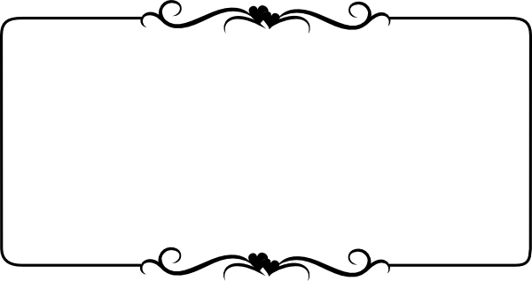 600x318 Black Heart Border Clip Art