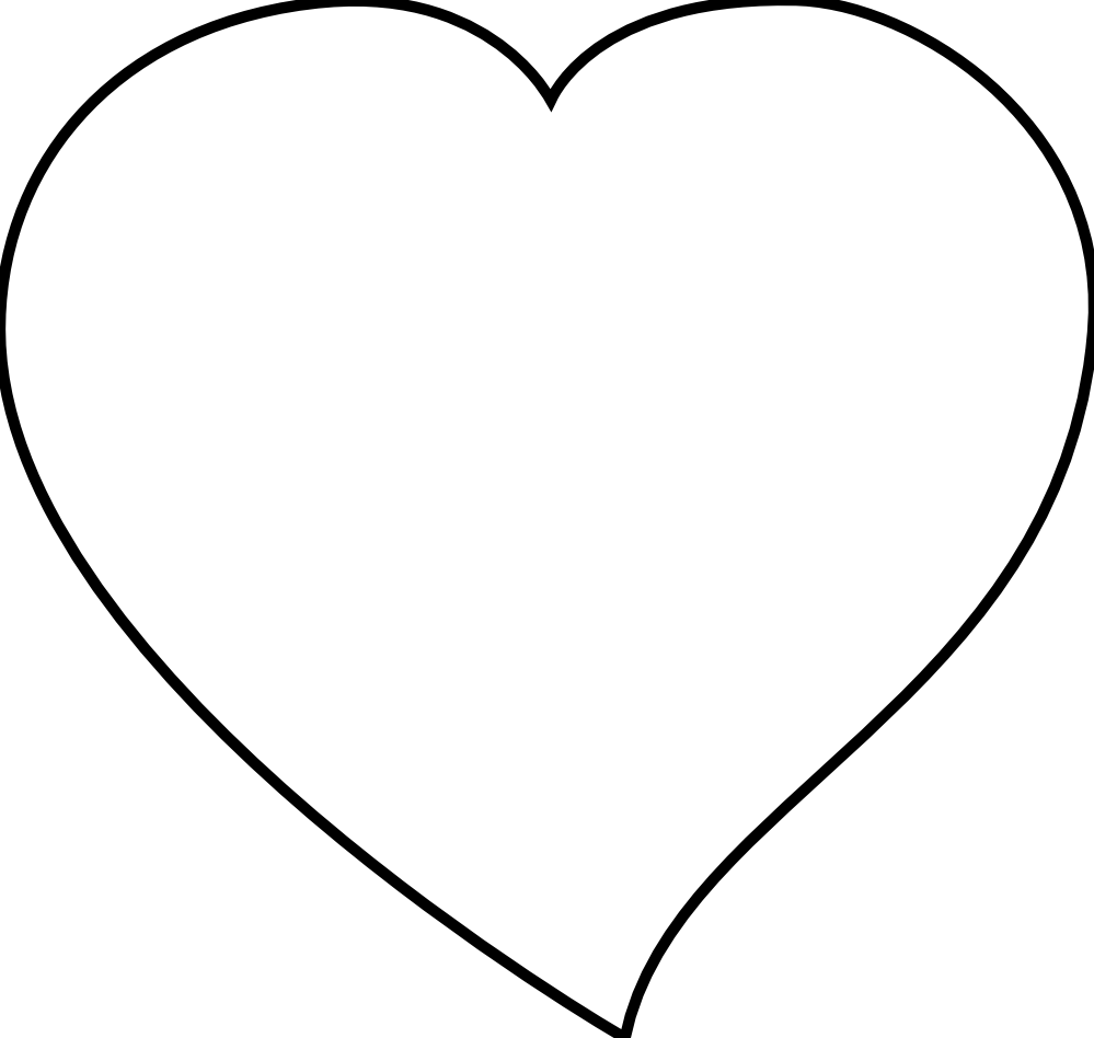 999x948 Heart Black And White Heart Clipart Black And White Heart