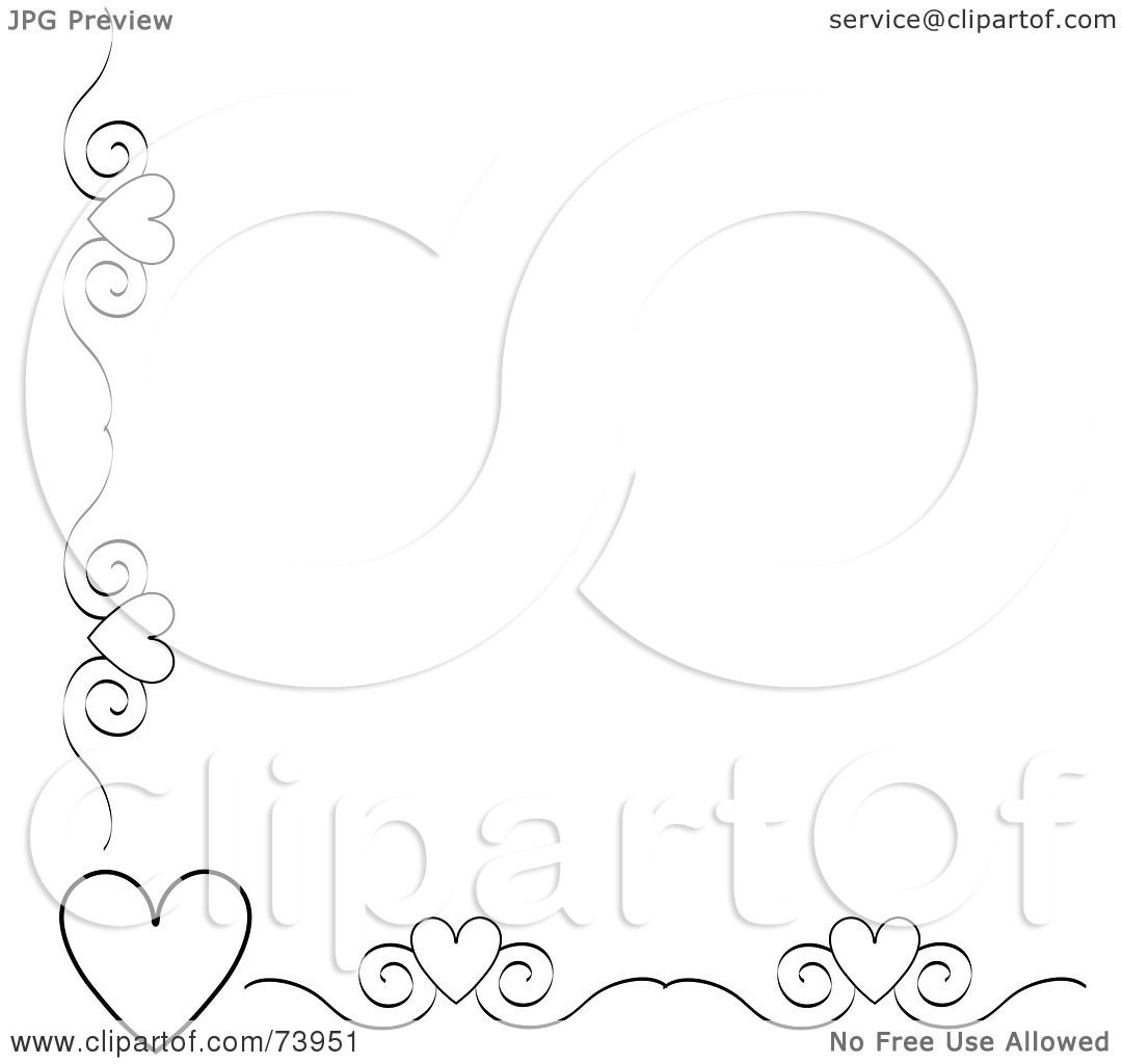 1080x1024 Royalty Free (Rf) Clipart Illustration Of A Black And White Heart