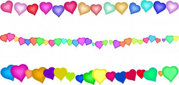615x293 Heart Border Edges Free Stock Photo