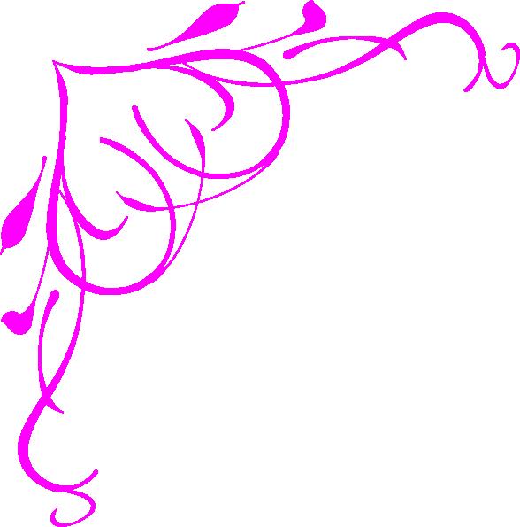 588x595 Pink Heart Border Clip Art