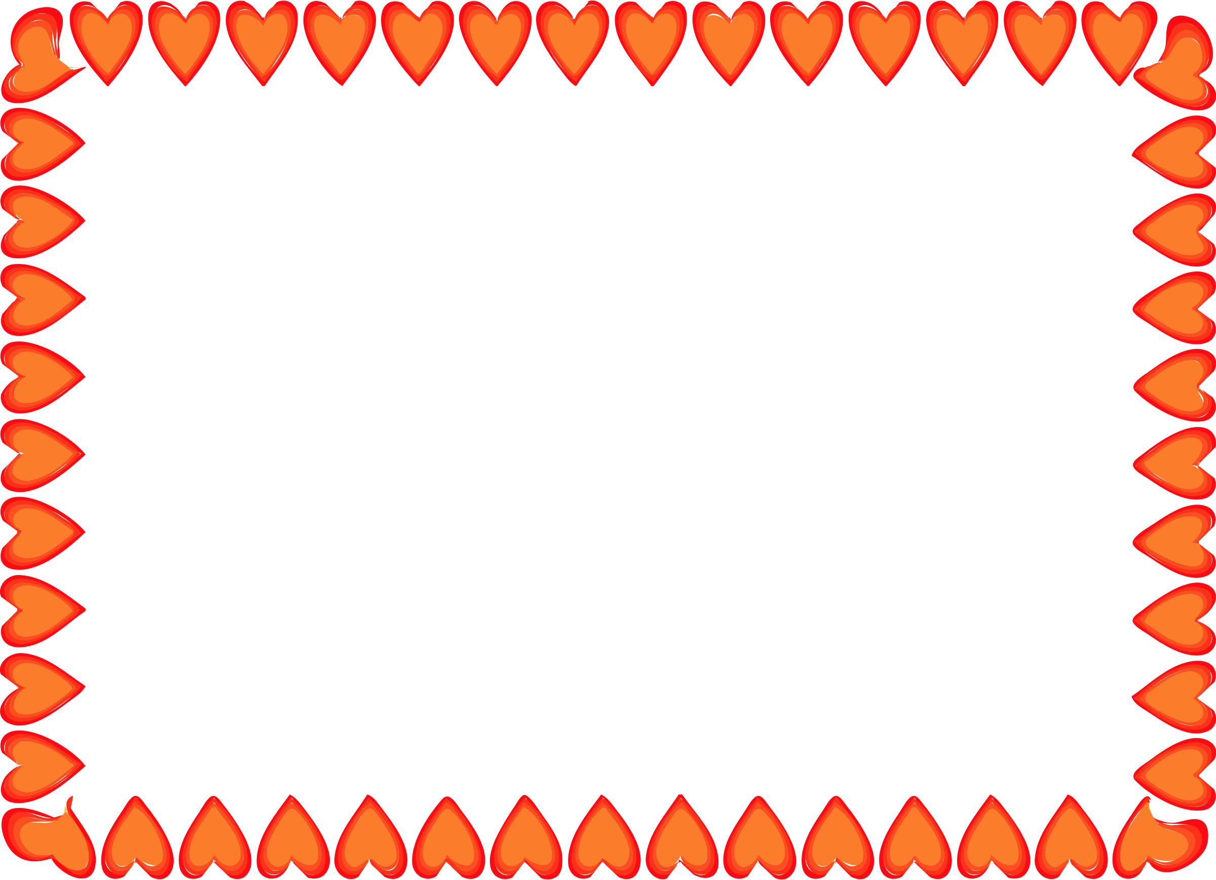 2400x1737 Red Hearts Border By @islandvibz, A Simple Rectangular Border Made
