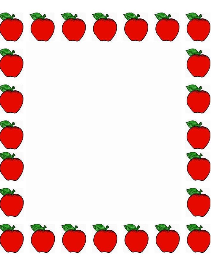 710x915 Teacher Apple Border Clipart Letters Example