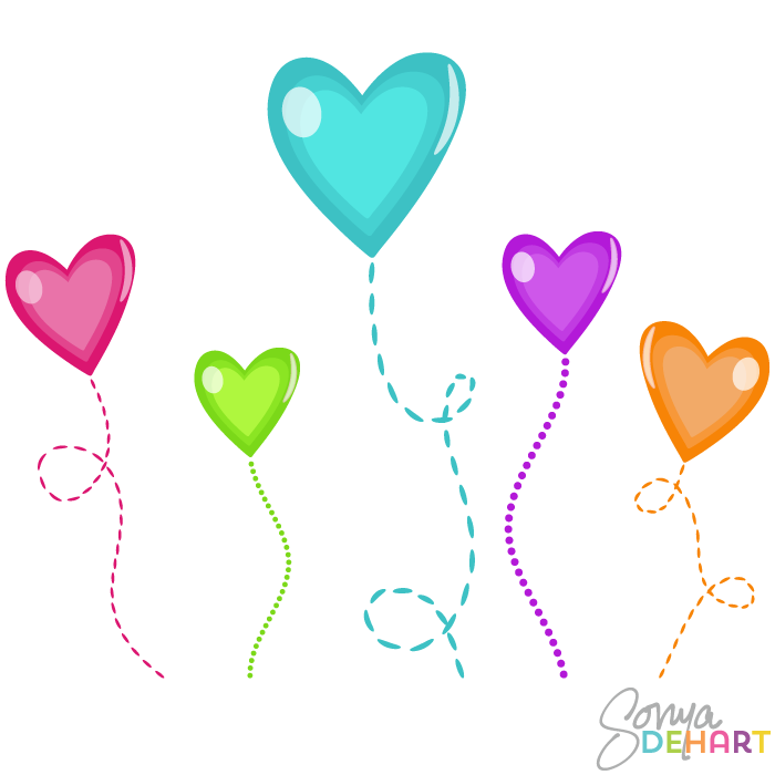 700x700 Clip Art Candy Hearts