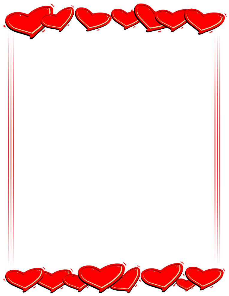 765x990 Clipart Of Valentine Borders