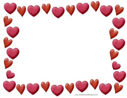 420x325 Free Heart Border Templates