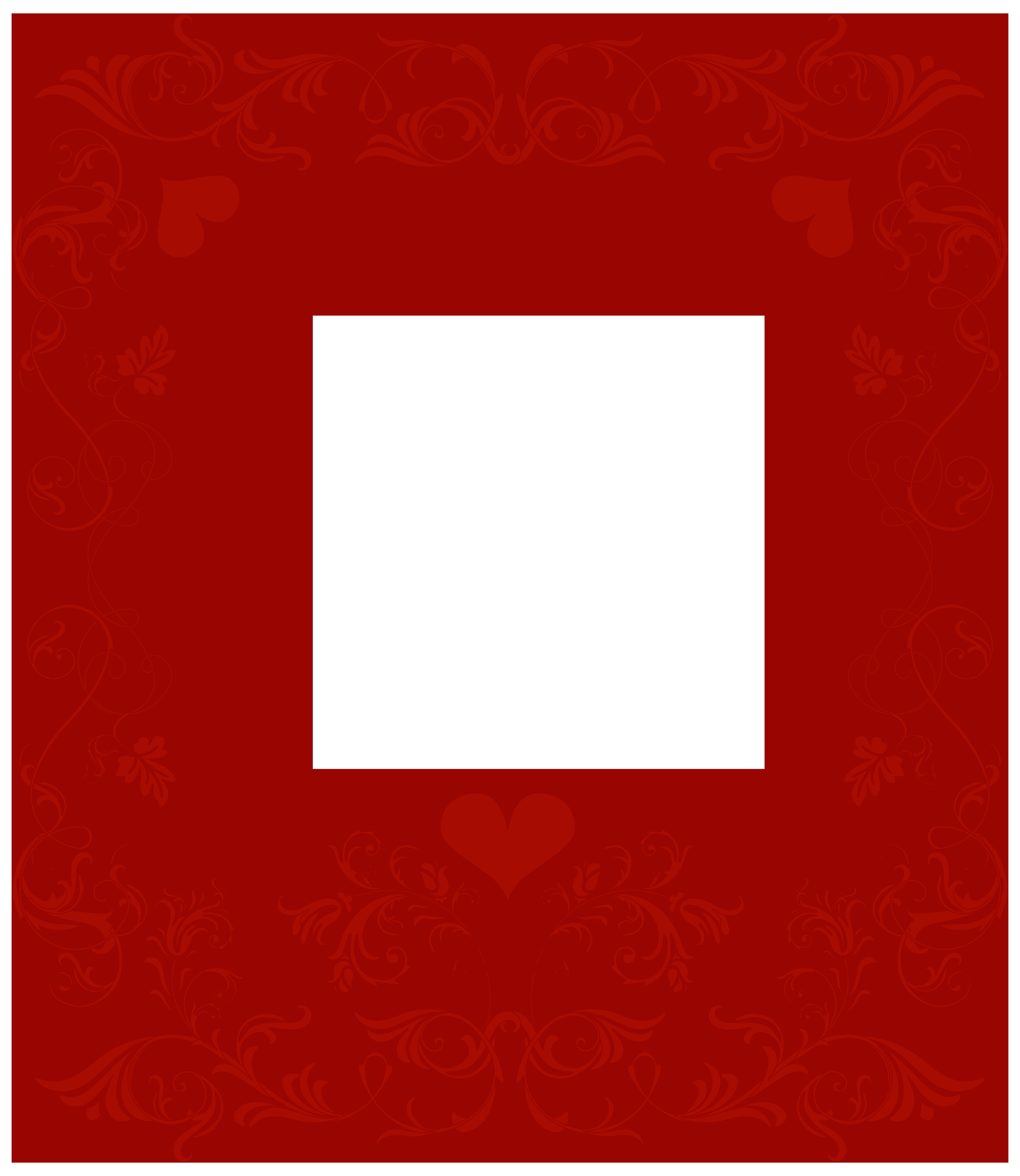 6936x8000 Valentine#39s Day Decorative Border Transparent PNG Clip Art Image