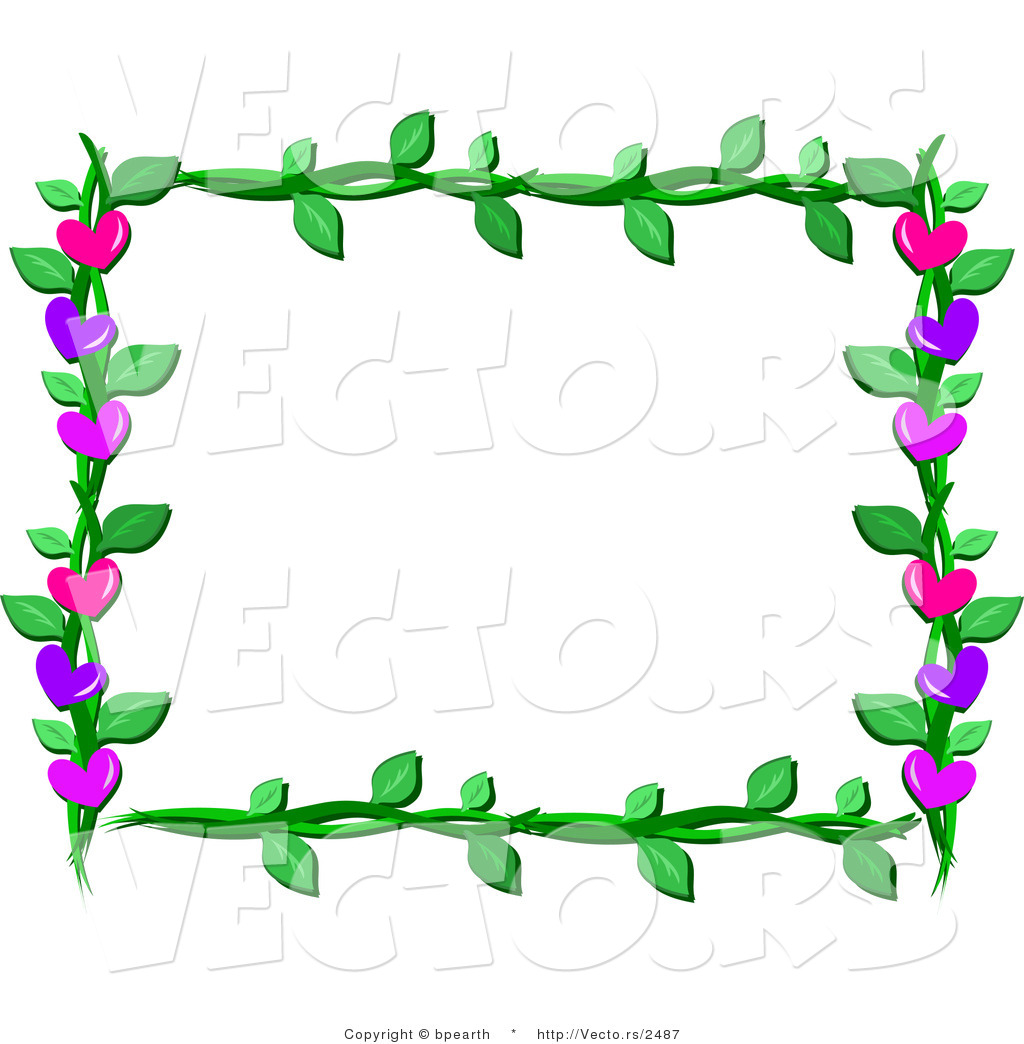 1024x1044 Cartoon Vector Of Lover Hearts And Vines Frame Border Design By
