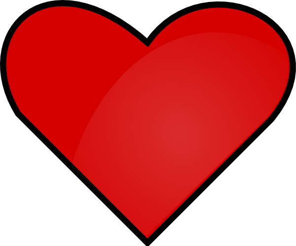 600x499 Red Heart Clip Art