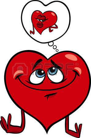 297x450 Cartoon Illustration Of Sad Broken Heart In Love On Valentine