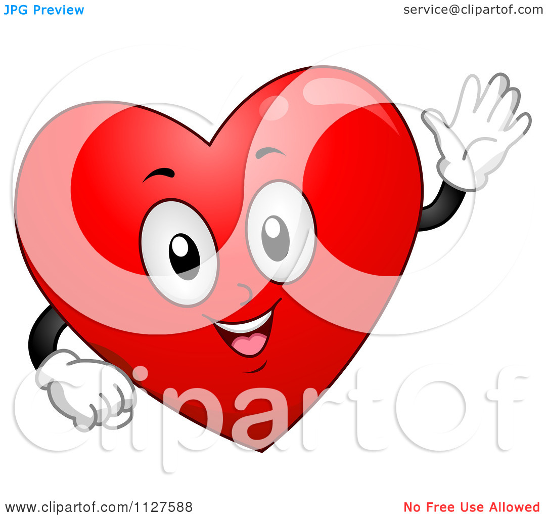 1080x1024 Happy Heart Cartoon Clipart
