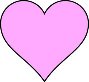 298x276 Pink Heart Outline In Black Clip Art