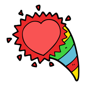 300x300 Cartoon Love Sick Heart Royalty Free Stock Image