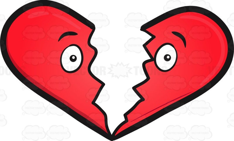 800x484 Broken Heart Clipart Cartoon