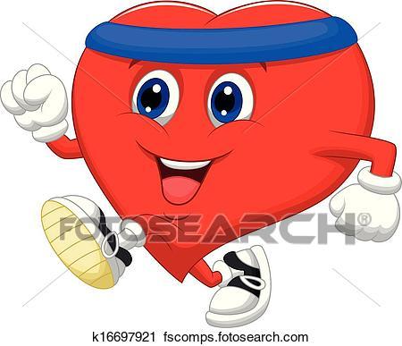 450x387 Clipart Of Cartoon Heart Running To Keep Healt K16697921