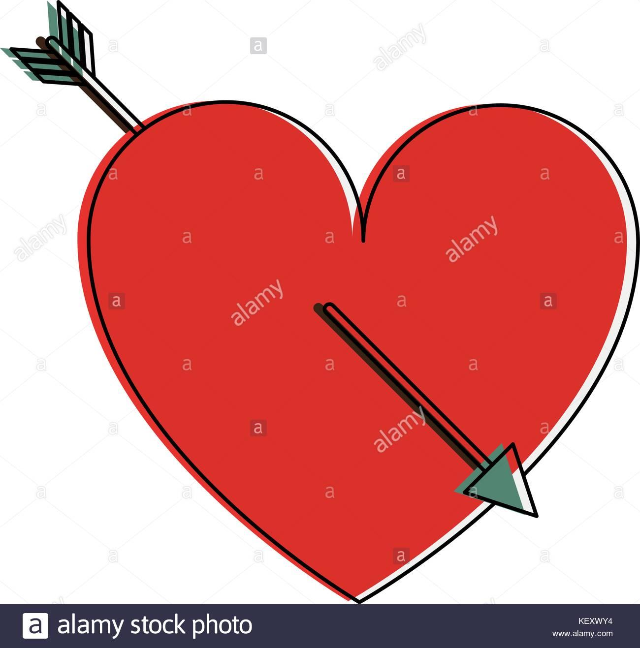 1300x1317 Heart With Arrow Stock Photos Amp Heart With Arrow Stock Images