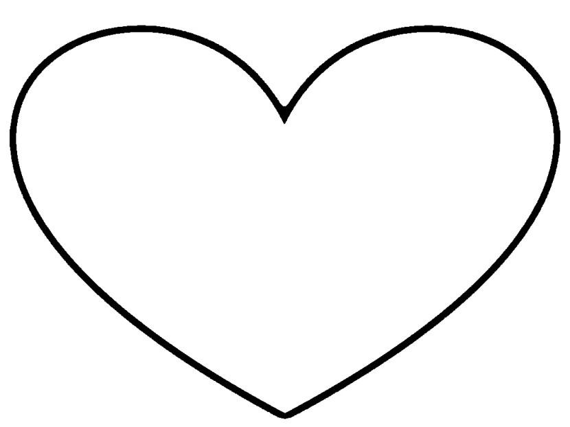 830x621 Heart Shaped Clipart Cartoon Heart