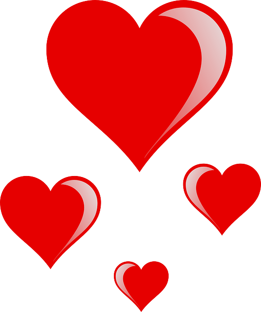 534x640 Red, Small, Outline, Recreation, Cartoon, Heart, Signs