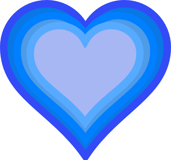 600x560 Blue Heart Clipart Free Clipart Images 2