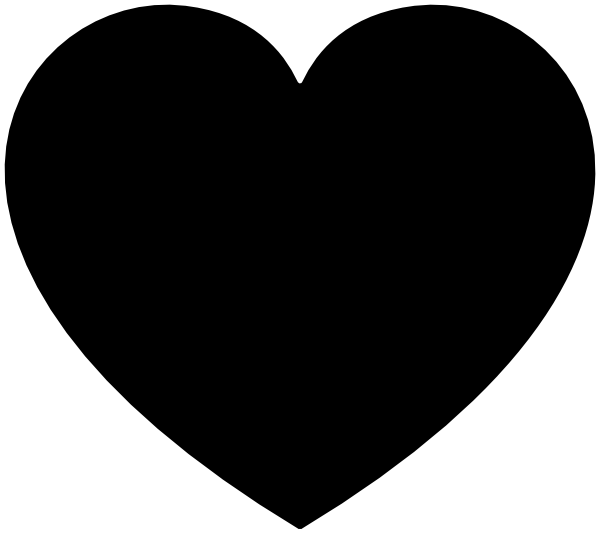 600x534 Heart Clipart Black Many Interesting Cliparts