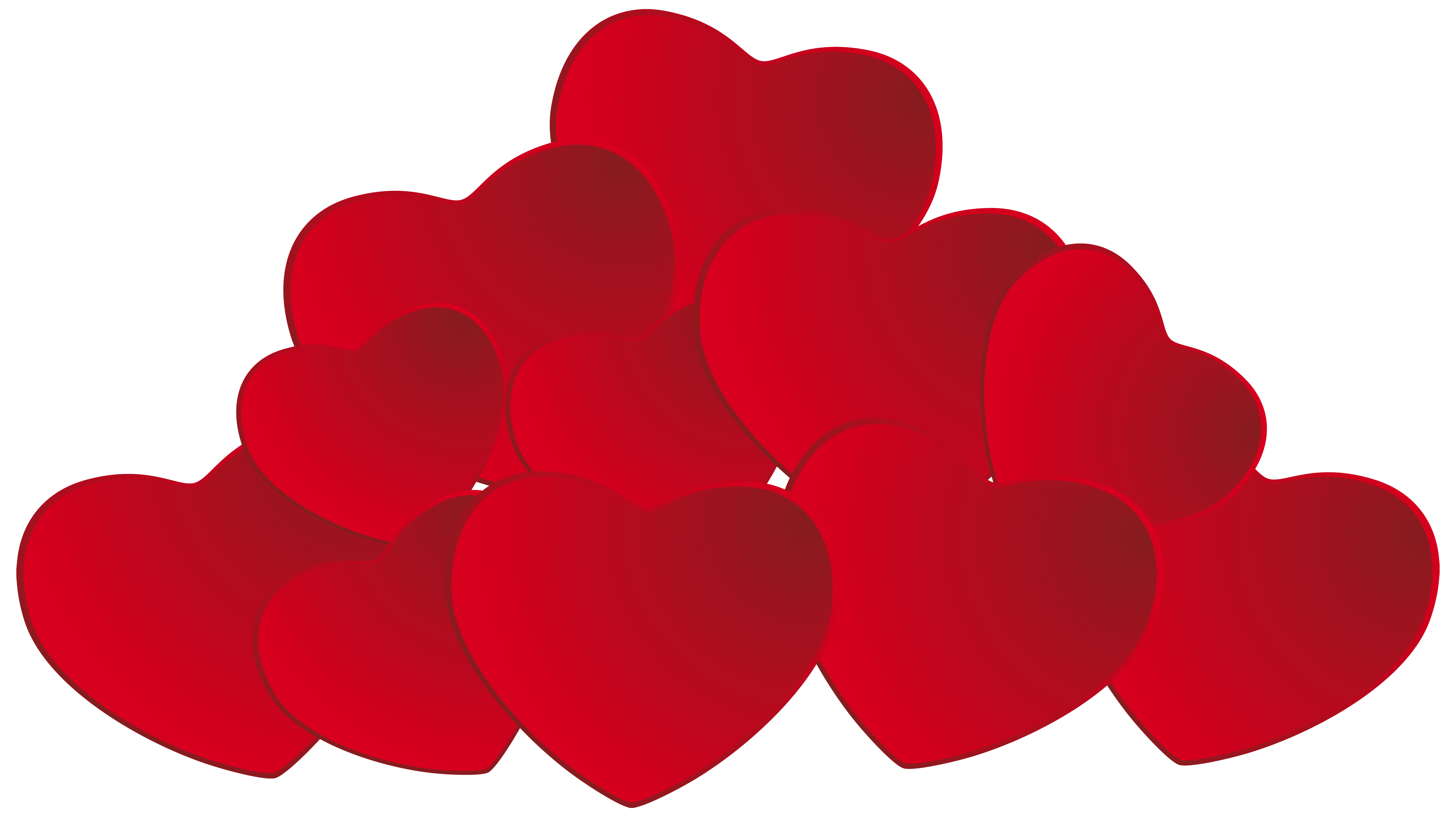 5000x2807 Pile Of Hearts Png Clipart