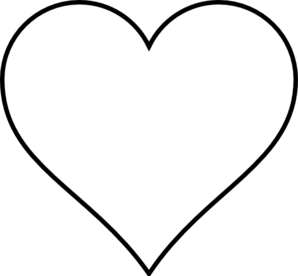 298x276 Black Heart Wedding Clip Art