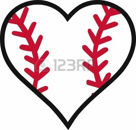 450x430 Heart Baseball Clipart