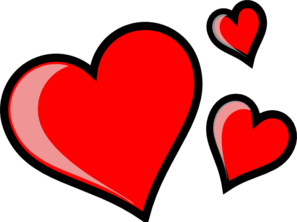 297x222 Three Hearts Clip Art