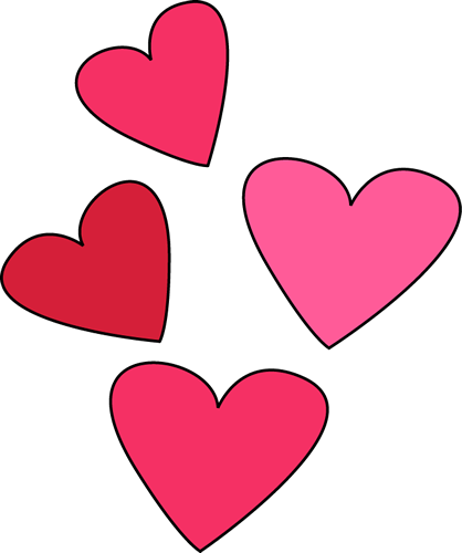 418x500 Valentines Day Hearts Clip Art Valentine Week 6 2