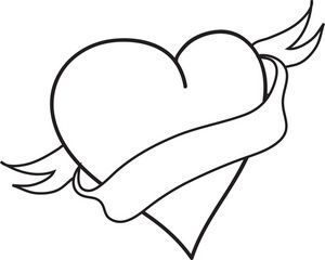 Heart Clipart Free Black And White