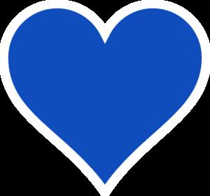 300x279 Blue Heart Clip Art