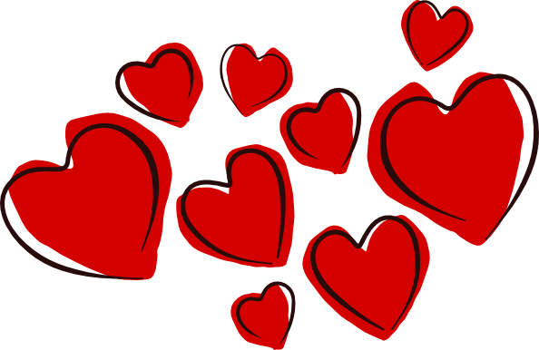 594x386 Sketchy Hearts Clip Art Free Vector 4vector