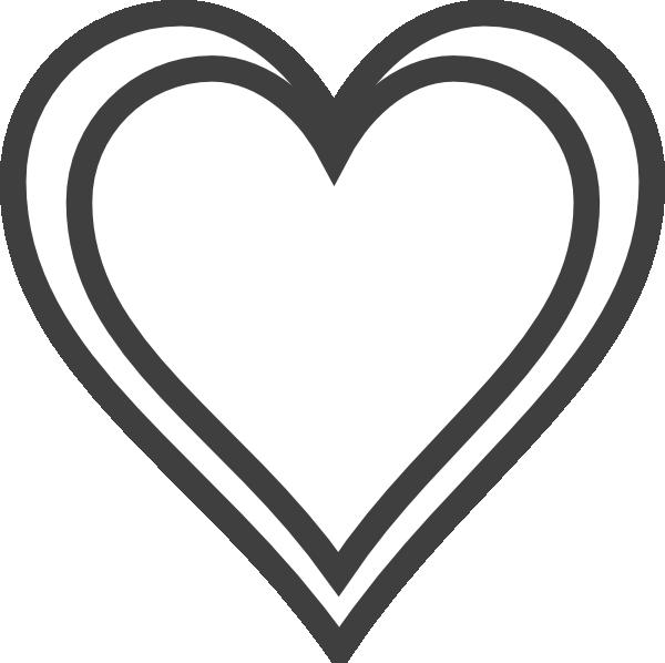 600x598 Double Heart Outline Clip Art