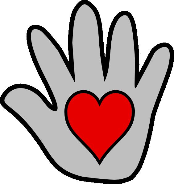564x597 Hand Heart Clipart
