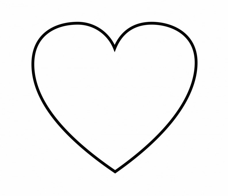 793x680 Download Coloring Page Of A Heart