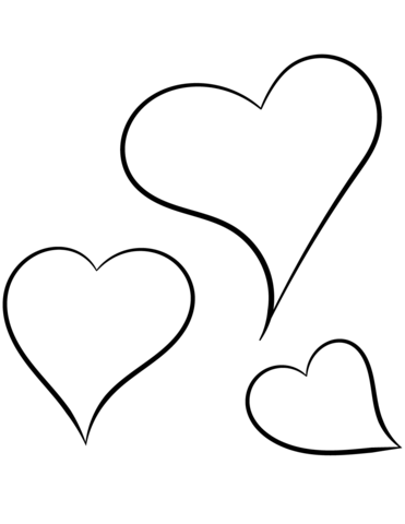 photo regarding Free Printable Heart Coloring Pages called Center Coloring Internet pages No cost obtain least complicated Centre Coloring
