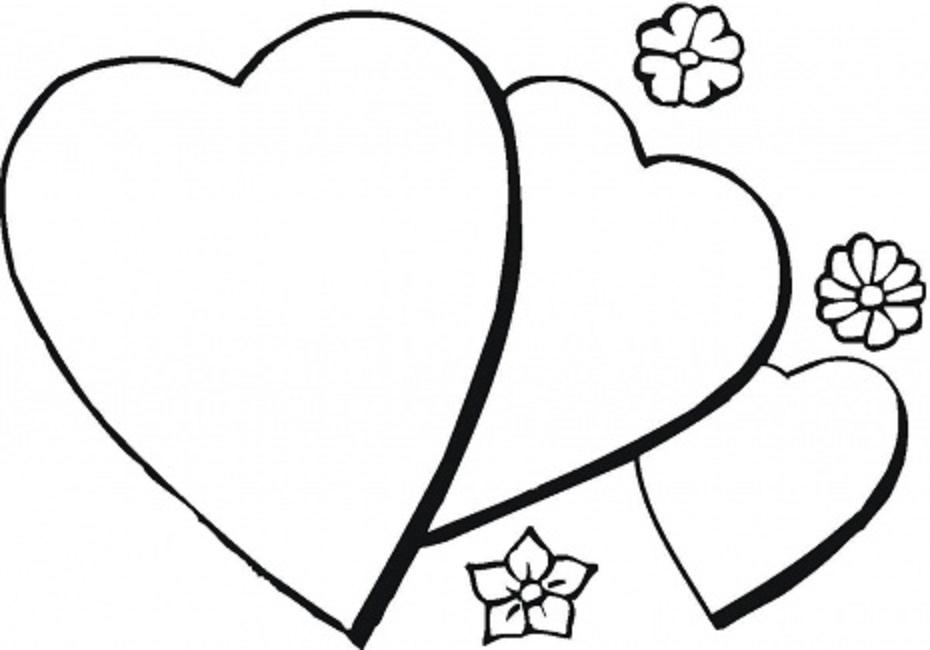 930x650 heart coloring pages with flames