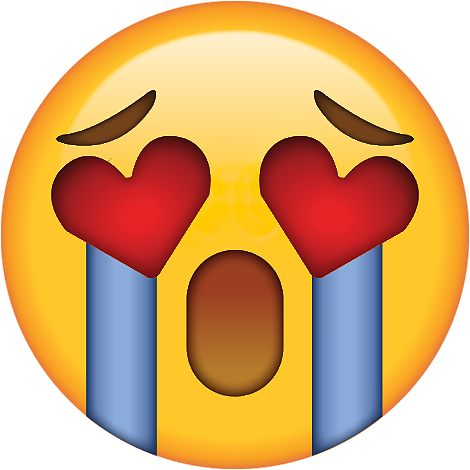 470x470 Crying Heart Eyes Secret Emoji Funny Internet Meme Stickers By