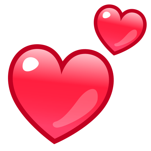 512x512 Two Hearts Emoji For Facebook, Email Amp Sms Id  12940 Emoji.co.uk
