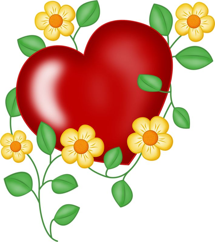 Heart Flower Clipart   Free download on ClipArtMag