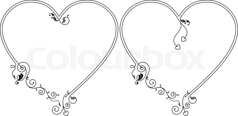 4896b90557f7 Heart Frame Clipart