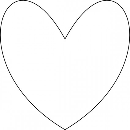 425x425 Heart Shape Outline Clipart