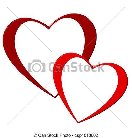 450x470 Luxury Double Heart Clipart Clip Art Von Herzen Zwei Zwei Herzen