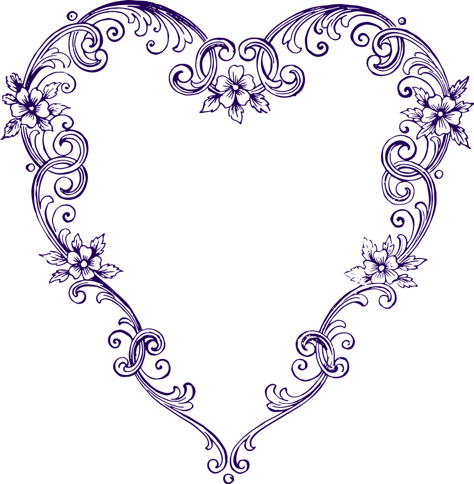 937x955 Purple Heart Clipart