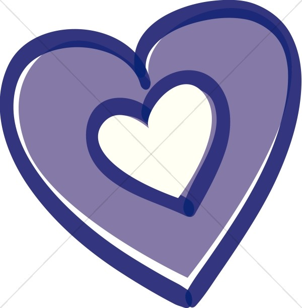 600x612 Purple heart heart clip art images on