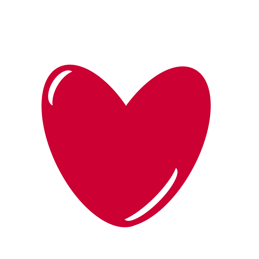 1080x1080 Red Heart Clip Art