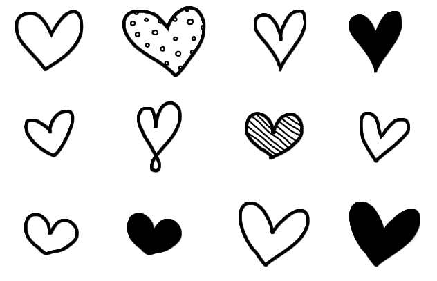 632x407 Simple Heart Clip Art Cliparts