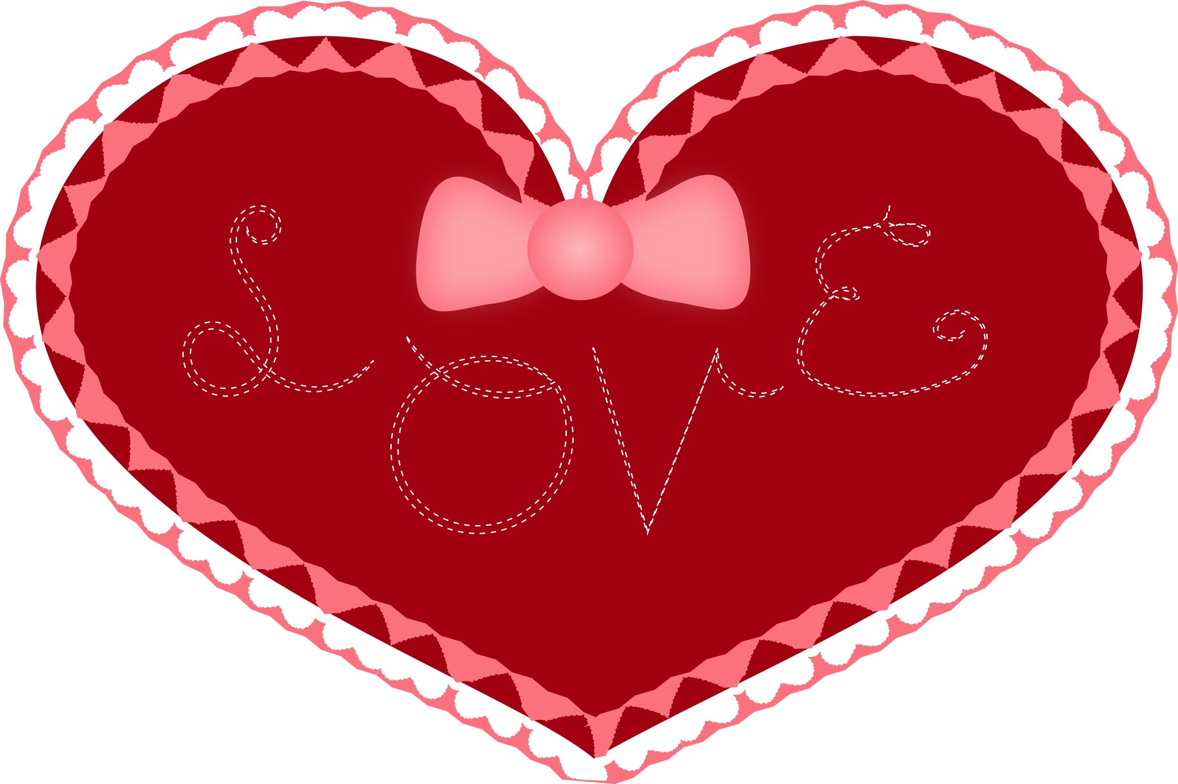 2400x1598 Valentine's Day Clipart Big Heart