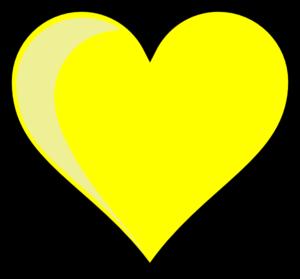 300x279 Yellow Heart Clip Art